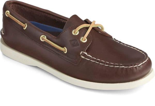 Sperry Authentic Original Lace Ladies Shoes Brown